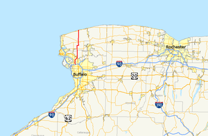 New York State Route 425 - Image: New York Route 425 map