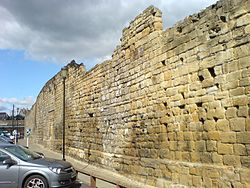 Newcastle town wall, orchard street