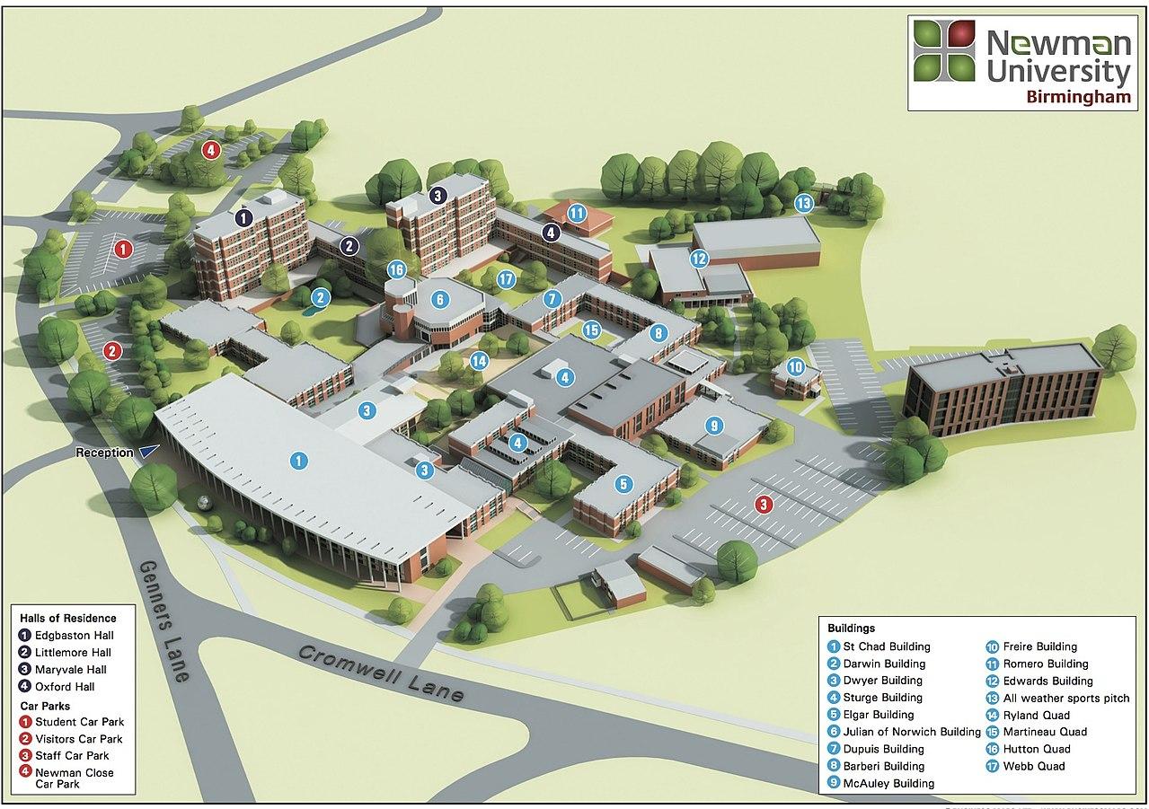 File Newman University Campus Map Jpg Wikimedia Commons