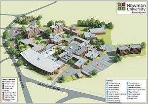 Newman University, Birmingham - Map of Newman University, Birmingham