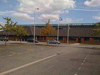 Newport Stadium - Newport Stadium grandstand entrance