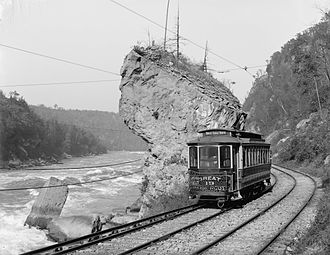 Niagara Gorge Railroad - A trolley of the Niagara Gorge Railroad