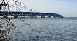 North Grand Island Bridge - The bridge as seen from Buckhorn Island State Park.