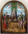 Niccolò rondinelli, madonna in trono tra i ss. girolamo e caterina d'alessandria, 01.jpg