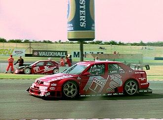 Nicola Larini - Nicola Larini - Alfa Corse - Alfa Romeo 155 V6 TI 94, 1994 DTM Donington Park