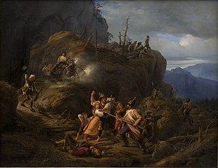 Scene af tyrolerkrigen i året 1809