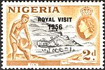 Nigeria royal visit stamp 1956.jpg