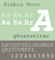 Nimbus Mono Specimen.png
