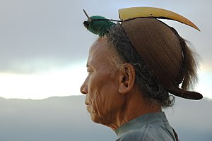 Nyishi people - A Nyishi man with a hornbill headdress
