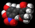 Nitecapone molecule spacefill.png
