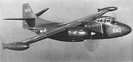 North American AJ-1 Savage bomber of the Naval Air Test Center in flight in 1950.jpg