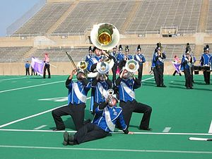 North Mesquite High School band