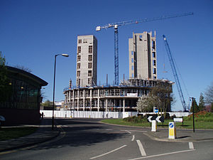 Partnership House - Image: Northern Rock Construction April 2007