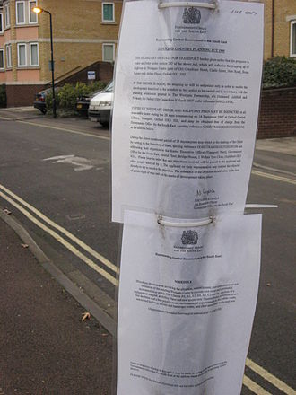 South East England - A notice in Oxford from the Government Office for the South East