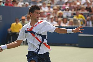 Novak Djokovic - Djokovic during his first round match against Robin Haase at the 2007 US Open
