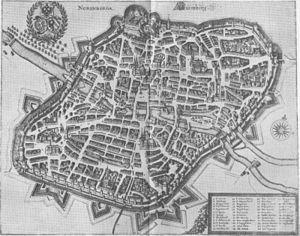 Johann Philipp Krieger - A 1650 engraving of Nuremberg, home of the Krieger family.