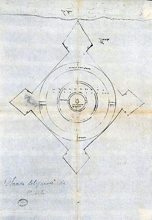 Santiago de Vera - Ground plan of the Fort of Nuestra Señora de Guia built by Santiago de Vera in 1587