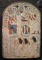 Nuovo regno, stele dello scriba hatiay, da gurnah, tebe occidentale.JPG