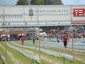 O-Ringen - Finish line during the 2005 event in Skillingaryd