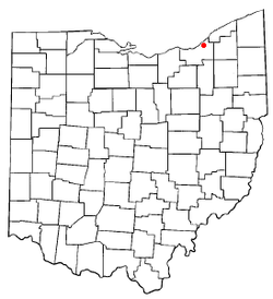 Location of East Cleveland in Ohio