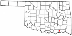 Location of Boswell, Oklahoma