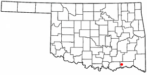 Boswell, Oklahoma - Image: OK Map doton Boswell