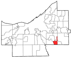Location of Oakwood in Cuyahoga County