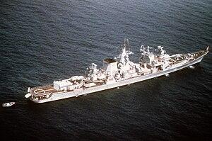Russian cruiser Ochakov - Image: Ochakov 1982