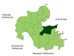 Location of Ōita