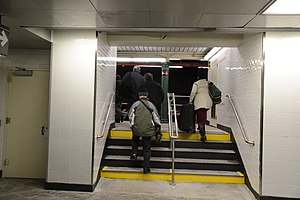 South Ferry/Whitehall Street (New York City Subway) - New passageway built in 2013 leading to the old South Ferry station