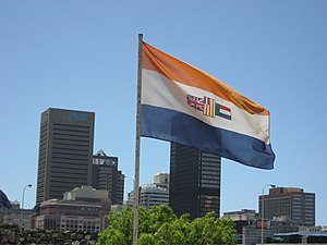Flag of South Africa (1928–1994) - The flag at the Castle of Good Hope in 2006