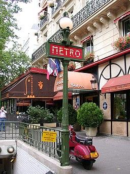 Old métro sign Paris France