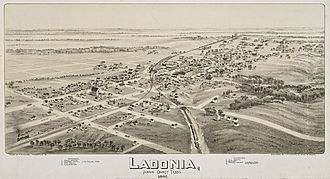 Ladonia, Texas - Map of the city 1891
