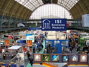 Olympia, London - The interior of Olympia, hosting a trade fair