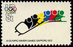 Olympic Games Sapporo Bobsled 8c 1972 issue U.S. stamp.jpg