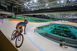 Olympic Velodrome in Barra Olympic Park tested the track 25.06.16 20.jpg