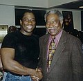 Opera star Stacey Robinson (left) with Ossie Davis in 1998.jpg