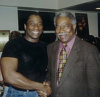 Ossie Davis - Davis with activist and opera star Stacey Robinson (left) in 1998.