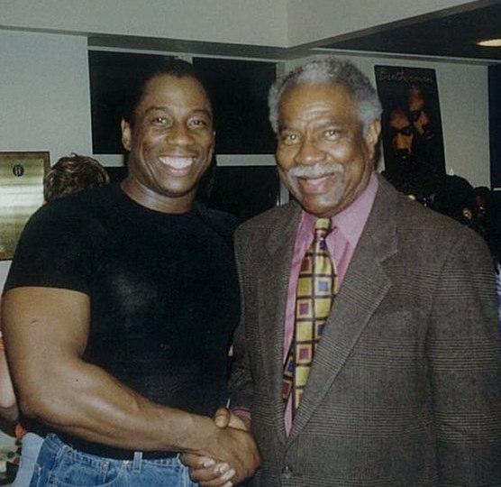 Opera star Stacey Robinson (left) with Ossie Davis in 1998