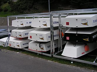 Optimist (dinghy) - Typical Optimist storage