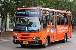 Orange private bus in Bangkok.jpg