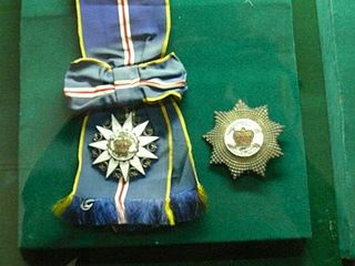 Order of the Defender of the Realm Malaysian federal award presented for meritorious service to the country