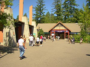 Oregon Zoo, Portland, Oregon, USA -inside entrance-25July2010.jpg