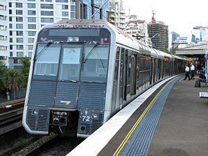 Sydney Trains T set - T72 at Milsons Point in original condition
