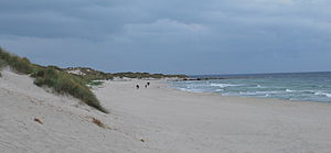 Klepp - View of the Orrestranda beach along the Klepp coast