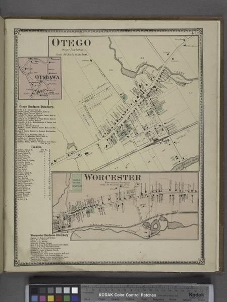 File:Otego (Village); Otsdawa (Village); Otego Business Directory.; Worcester (Village); Worcester Business Directory. NYPL1602772.tiff