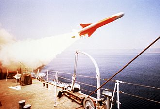 Assad-class corvette - Otomat missile launch from an Al Assad class ship