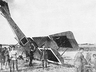 Gotha LD.1 - An LD.2 of the Ottoman Empire after nosing over