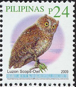 Otus longicornis 2009 stamp of the Philippines.jpg