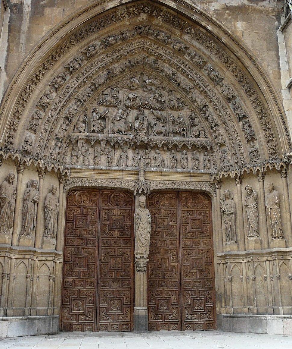 Pórtico central fachada sur Catedral de León